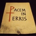 Entrevista sobre encíclica Pacem in terris, de João XXIII