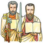 São PEDRO e São PAULO, apóstolos.