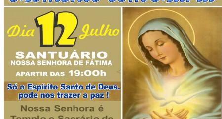 Santuário de Fátima recebe o 7º Momento com Maria.