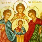 São Miguel, São Gabriel e São Rafael, Arcanjos . Festa