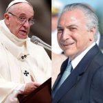 Vaticano emite nota sobre carta do Papa a Michel Temer