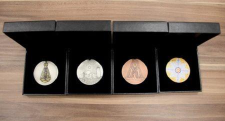 Projeto inédito: lançado conjunto de medalhas pelos 300 anos de Aparecida