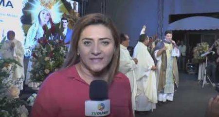 Fiéis lotam o santuário em São Benedito para missa e show do Padre Reginaldo Manzotti