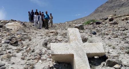 Cruz de mais de 1200 anos de antiguidade encontrada no Paquistão